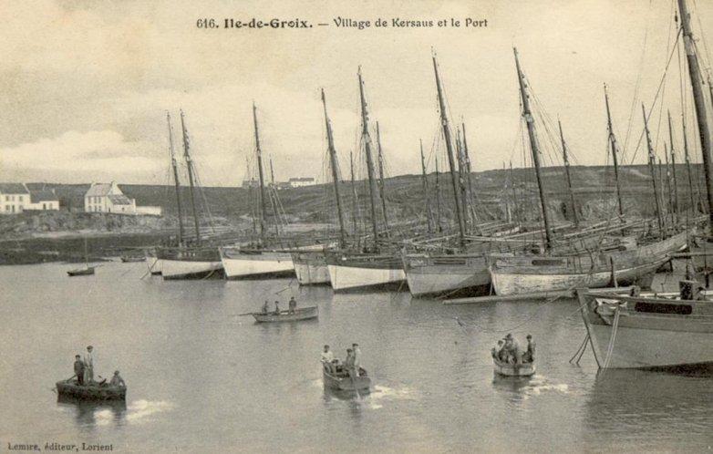 thoniers baie de Kersaus, Locmaria, Groix