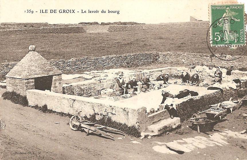 lavoir bourg groix carte postale